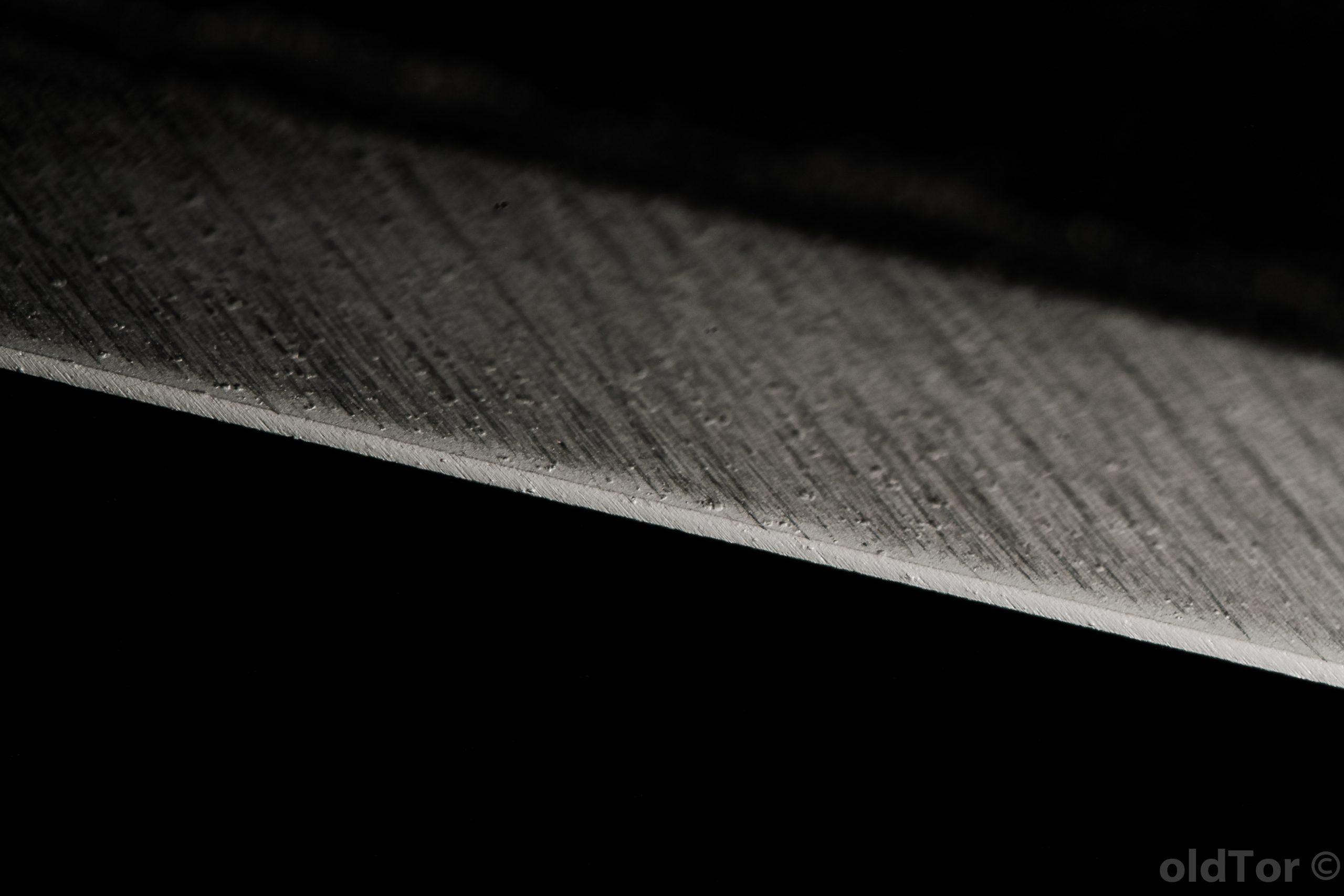 Кромка ножа после белоречита